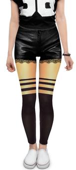 """Леггинсы """"иллюзия шорты и чулки. оголенные ноги."""" - чулки, шорты, оголенные ноги"""