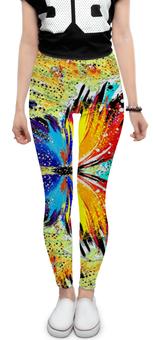 "Леггинсы ""SAMUR!!!"" - бабочка, ярко, краски, gym, геометрия"