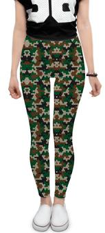 """Леггинсы """"Кубический камуфляж"""" - military, камуфляж, camouflage, армия россии, армейская"""