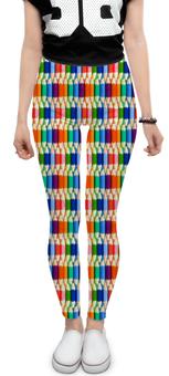 """Леггинсы """"Карандаши"""" - радуга, разноцветный, карандаши, цветной"""