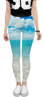 "Леггинсы ""Море и Небо"" - стиль, море, рисунок, небо"