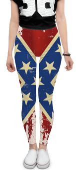 """Леггинсы """"Флаг конфедерации США"""" - арт, америка, флаг, конфедерация, флаг конфедерации"""