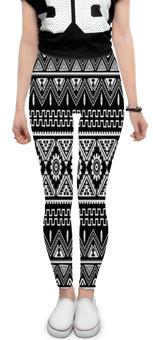"""Леггинсы """"Черно-белая графика"""" - узор, графика, абстракция, черно-белые, треугольники"""