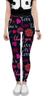 """Леггинсы """"День Св. Валентина"""" - день св валентина, валентинка, сердца, любовь"""