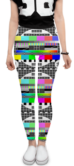 """Леггинсы """"Профилактика 2.0"""" - стиль, дизайн, профилактика, графика, телевизор"""
