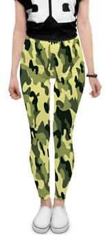 """Леггинсы """"комуфляж.защитный цвет. """" - армия, комуфляж, защитный рисунок"""
