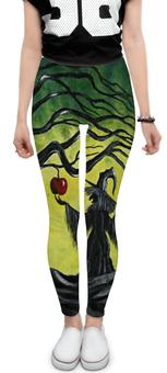 """Леггинсы """"Заколдованное яблоко"""" - спорт, сказка, волшебство, фитнесс, сувенир ко дню всех влюблённых"""