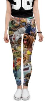 """Леггинсы """"Мультфильмы"""" - мультфильм, pixar, тайная жизнь домашних животных, зверополис, в поисках дори"""
