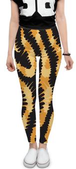 """Леггинсы """"Тигровый"""" - узор, рисунок, полосы, тигровый, звериный"""