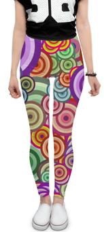 """Леггинсы """"Цветные круги"""" - узор, стиль, круг, орнамент, абстракция"""