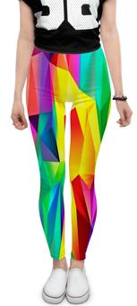 """Леггинсы """"Абстрактный узор"""" - абстракция, краски, цветные, яркие, графика"""