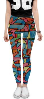 "Леггинсы ""``.'TTTSS0ZZ"" - арт, узор, абстракция, фигуры, текстура"