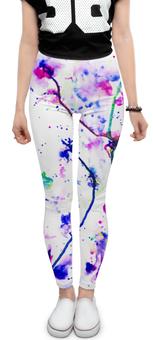 """Леггинсы """"Фиолетовое притяжение"""" - цвета, фиолетовый, краски, абстракция, линиии"""