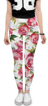 """Леггинсы """"Цветочный узор"""" - свадьба, розы, 8марта, деньмам"""