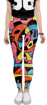 "Леггинсы ""ttt`12ll"" - арт, узор, абстракция, фигуры, текстура"