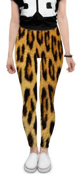 """Леггинсы """"Леопард"""" - кошка, леопард, звери, животное, леопардовый"""