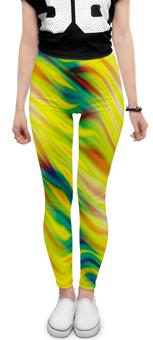 """Леггинсы """"SAMUR!!!"""" - радуга, стиль, ярко, орнамент, линии"""