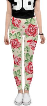 """Леггинсы """"Цветочный узор"""" - любовь, цветы, романтика, розы"""