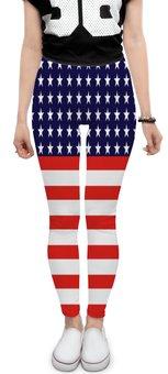"Леггинсы ""Америка"" - звезды, америка, полосы, флаг, линии"