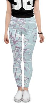 "Леггинсы ""Fantasy Lily "" - flower, fashion, pattern, line, seamless"