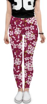 """Леггинсы """"Цветущая вишня"""" - красиво, природа, цветочки, цветущая вишня, красивые цветы"""