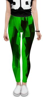 """Леггинсы """"Зеленые стекла"""" - стекла, зеленый, изумрудный, абстракция, цветные"""