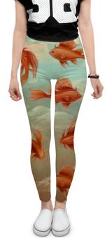 """Леггинсы """"Золотые рыбки"""" - стиль, рисунок, рыбки"""