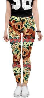 """Леггинсы """"Коала"""" - цветы, мило, животное, коала, абстракт"""