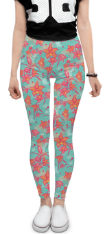 """Леггинсы """"Яркие цветы"""" - арт, бабочки, цветы, паттерн, авторский дизайн"""