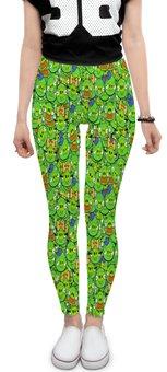 "Леггинсы ""Angry Birds"" - мульт, angry birds, энгри бёрдз, зеленый, свиньи"