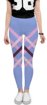 """Леггинсы """"Графика"""" - спорт, полосы, розовый, синий, тренировка"""
