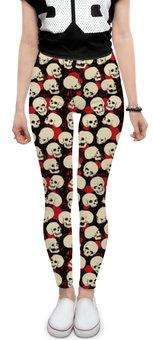 "Леггинсы ""Skulls"" - череп, скелет, тьма"