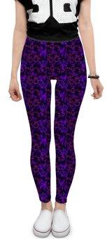 """Леггинсы """"Леггинсы Dark violet pattern"""" - паттерн, фиолетовые, линии, сиреневые"""