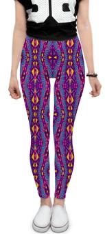 """Леггинсы """"Фиолетовая мозаика"""" - мозаика, узор, краски, фиолетовый, ромбы"""