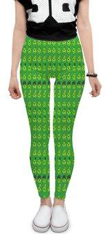 "Леггинсы ""Angry Birds"" - зеленый, свиньи, мульт, angry birds, энгри бёрдз"