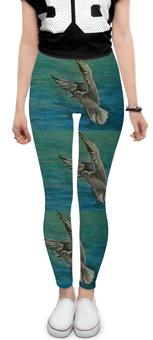"""Леггинсы """"Чайка"""" - море, свобода, волны, чайка"""