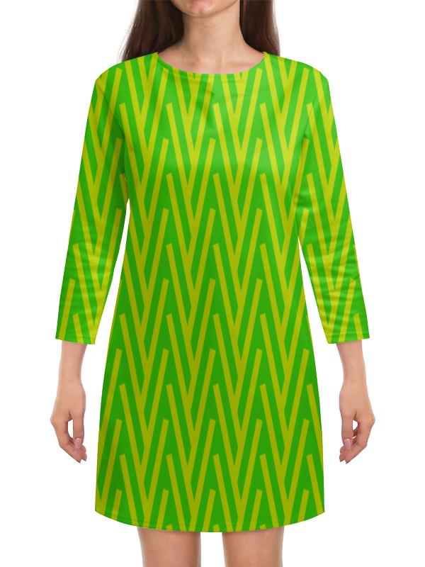 Платье с рукавами Printio Желто-зеленый узор жучок zhorya желто зеленый