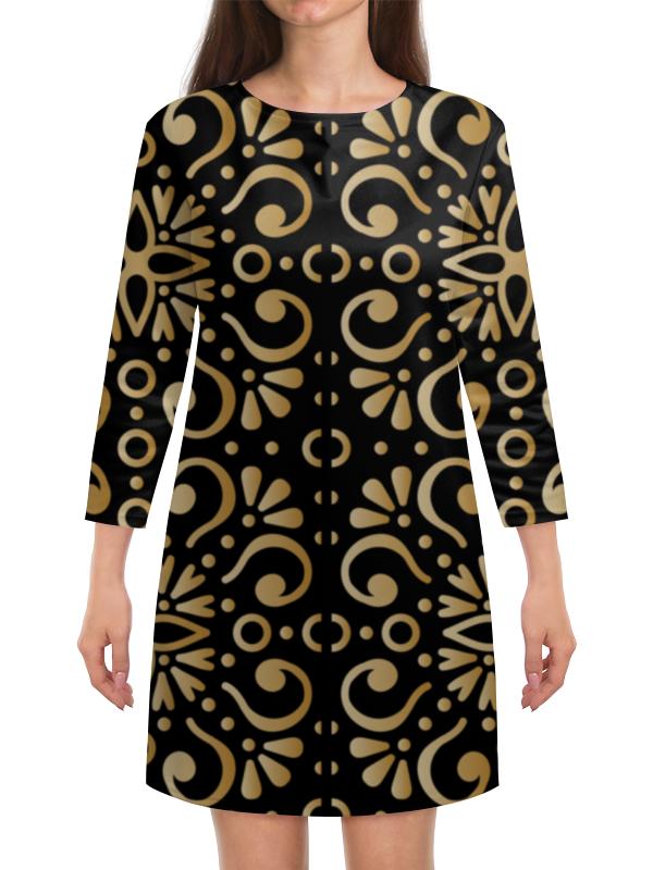 Платье с рукавами Printio Цветочное золото