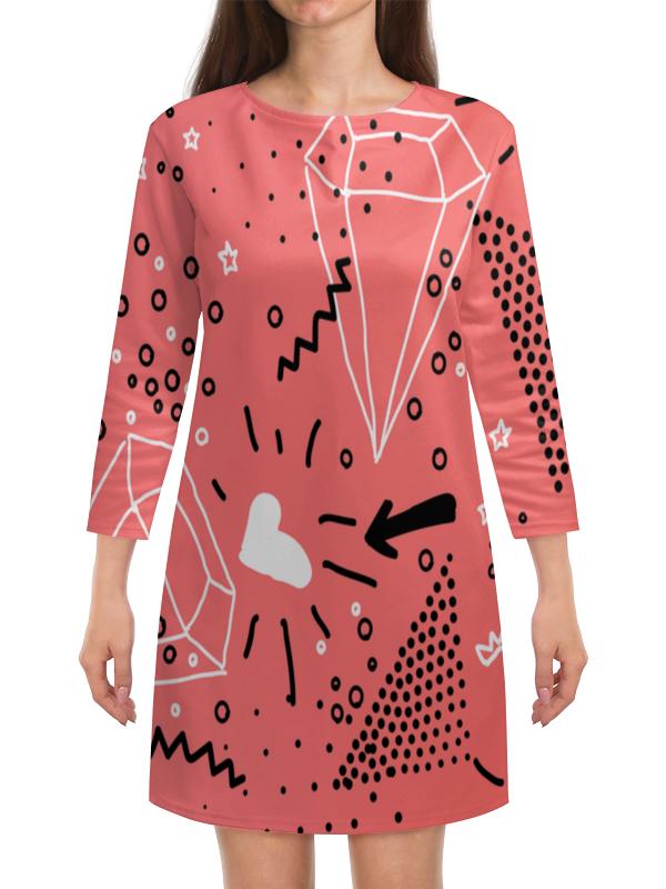 Платье с рукавами Printio Кристалл