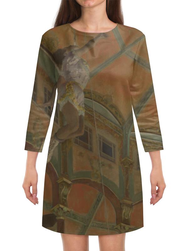 Платье с рукавами Printio Мисс ла-ла в цирке фернандо (эдгар дега) ботинки la grandezza la grandezza la051awuzp39