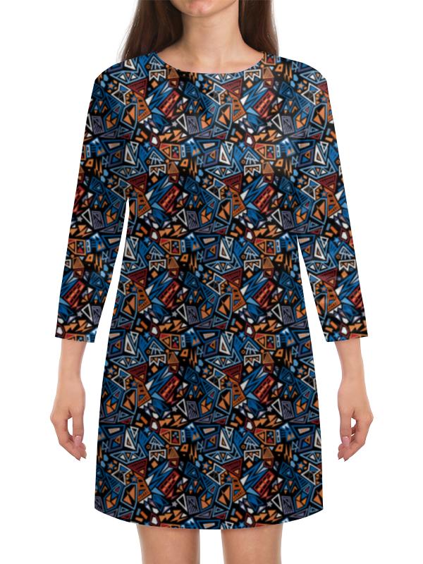 Платье с рукавами Printio Модный и стильный геометрический паттерн платье летнее printio модный и стильный геометрический паттерн