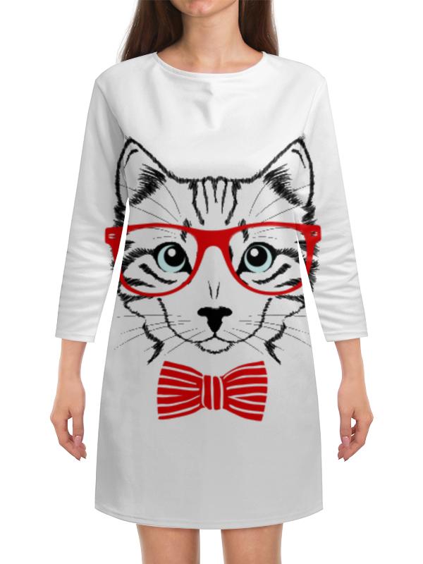 Платье с рукавами Printio Кошка андрей дашков домашнее животное