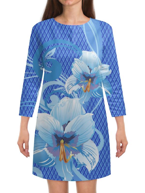Платье с рукавами Printio Лилии лилии