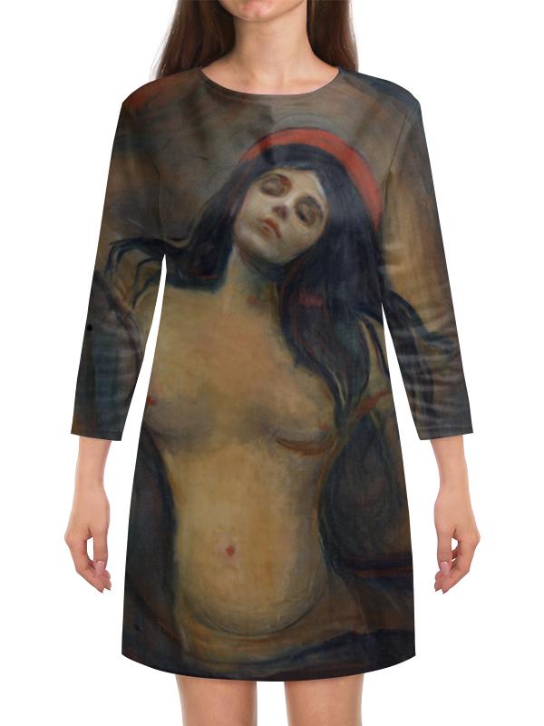 Платье с рукавами Printio Мадонна (картина мунка) серова м мадонна с калашниковым