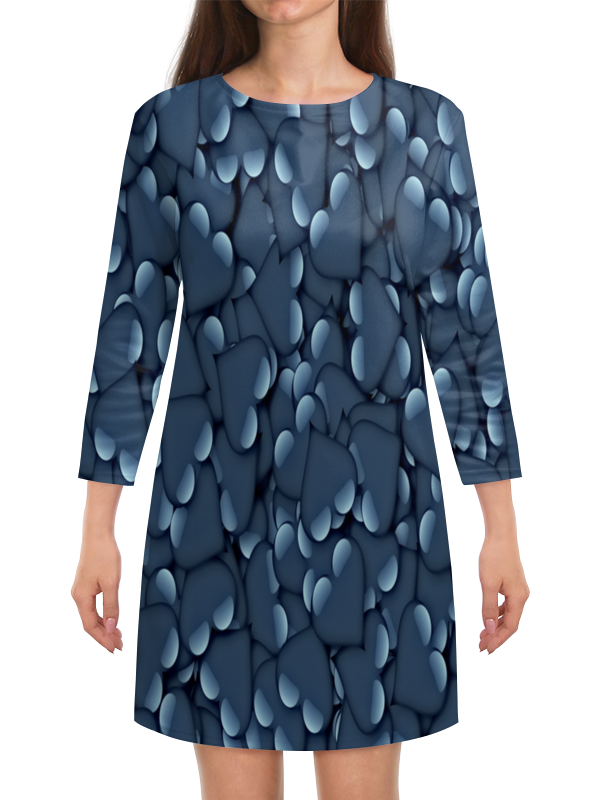 Платье с рукавами Printio Сердца