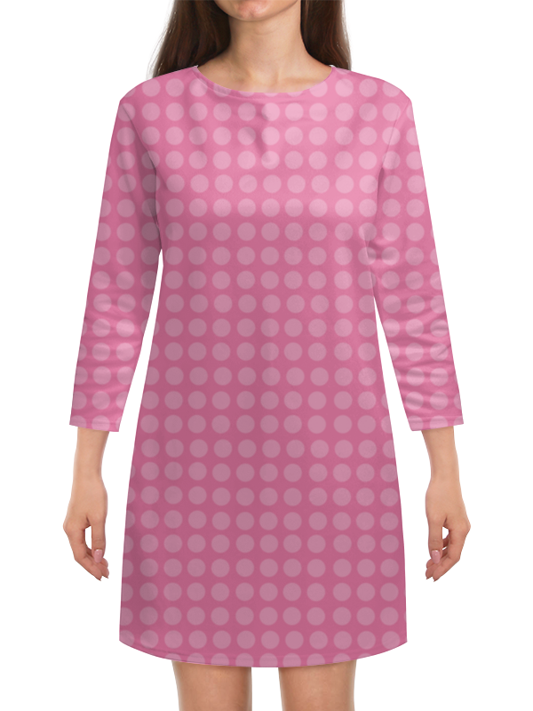 Платье с рукавами Printio Kitty в горошек платье голубое в белый горошек