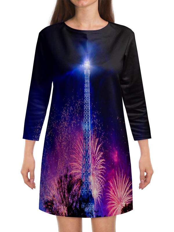 Платье с рукавами Printio Эйфелева башня