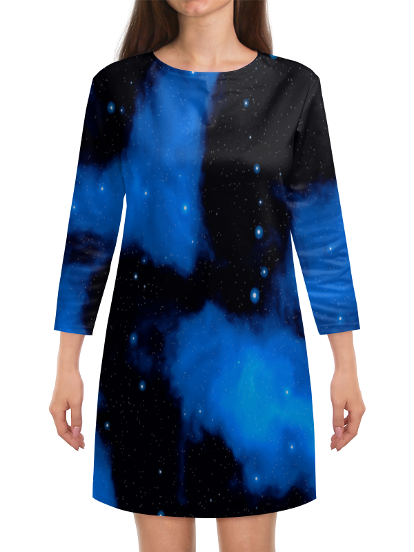 Платье с рукавами Printio Звездное небо платье летнее printio звездное небо