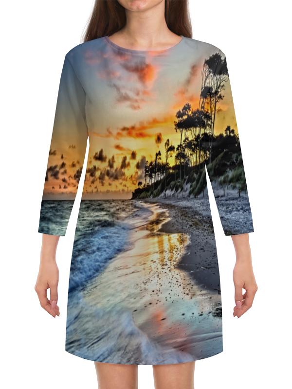 Платье с рукавами Printio Остров