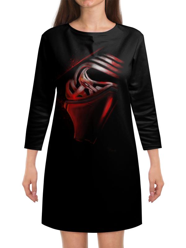 Платье с рукавами Printio Маска кайло рена lego 75104 командный шаттл кайло рена